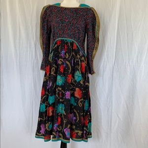 Jeanne Marc Dress Size 8 10 Vintage